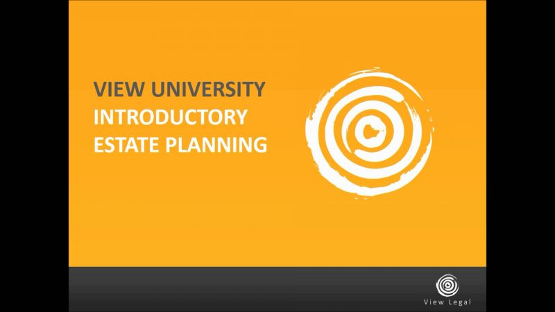 Introductory Estate Planning