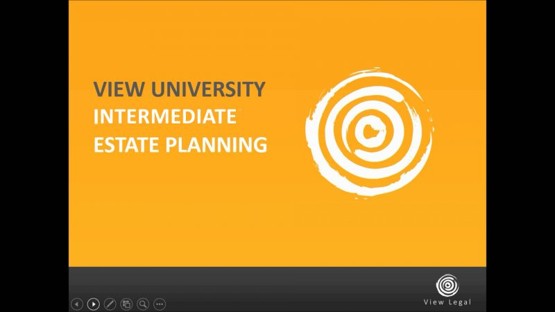 Intermediate Estate Planning